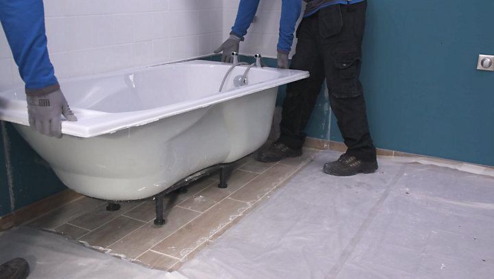 dépose baignoire plombier paris