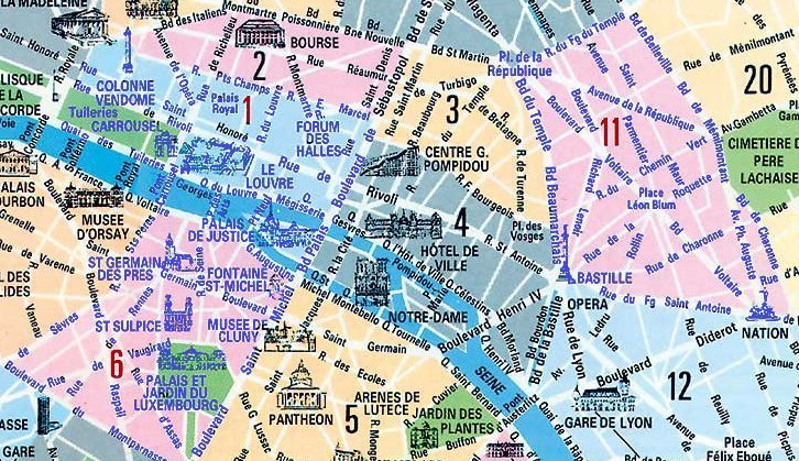 Plan d'intervention Desa plombier Paris 1er 6ème et 11ème arrondissement 75001 75006 et 75011