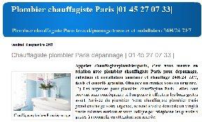 Chauffagiste Plombier Paris
